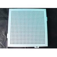 Buy cheap Acoustic Ceiling Tiles / Oblong Hole Perforated Stamped Metal Ceiling Panels from wholesalers