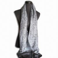 Wholesale 70 x 27 x 4-inch Scarf, Made of 45% Viscose/55% Acrylic, Various Designs are Available from china suppliers
