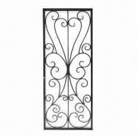 China Ornament iron grill, hand-forged iron, used for wood or iron door, easy-to-assemble on sale