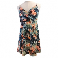 Buy cheap Summer Halter Sleeveless OEM Backless Floral Maxi Dress from wholesalers
