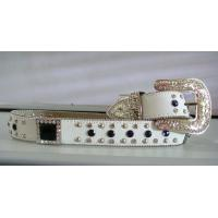 Buy cheap copy leather western crystal belts with glass from wholesalers