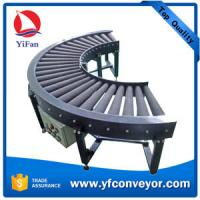 Wholesale 90 & 180 Degree Curve Powered Rubber Roller Conveyor from china suppliers