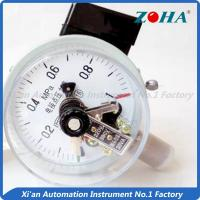 Buy cheap Bottom Electric Water Pressure Gauge / 30VA Electric Contact Manometer from wholesalers