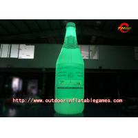 LED Color Inflatable Model / Inflatable Bottle luminescence Advertisement Simulation Model Manufactures