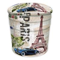 Buy cheap Iron Bucket Stool Retro Paris Eiffel Tower European Storage Stool Shoe Bench bar Stool from wholesalers