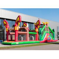Wholesale Reliably Blow Up Obstacle Course 17.0 X 3.6 X 4.7 M Fourfold Stitching from china suppliers