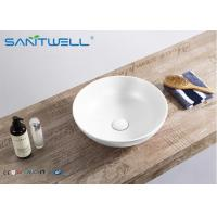 Buy cheap 400 * 400 * 155 Mm Art Wash Basin Above Counter Mountings With White Color from wholesalers