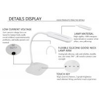 Buy cheap Goose neck arm portable led table lamp, 5W cordless led desk lamp from wholesalers