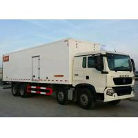 Frozen Foods LHD 8×4 Refrigerated Delivery Truck 40 Ton Low Energy Consumption Manufactures