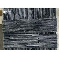Wholesale Black Color Nature Slate Cultured Stone Wall Panels For Park / Garden / Yard from china suppliers