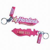 Wholesale Fancy Keychains with Keyrings and 4mm Thickness, Measures 55 x 35mm from china suppliers