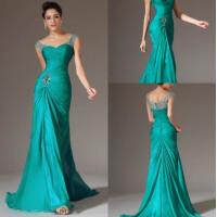 Strapless sexy green Evening Party Dresses with sweetheart neckline LXLSQ-1220 Manufactures