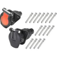 Buy cheap 24v 15 Pole Trailer Plug Socket Crimp Type Trailer Truck Socket ISO12098 from wholesalers