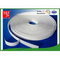 Wholesale 12mm white hook and loop adhesive tape without edge , 25m per roll from china suppliers