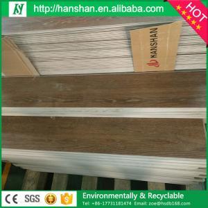 "4mm best Commercial Glossy Waterproof formaldehyde-free Click Lock 9""*48"" Vinyl floor tile Manufactures"