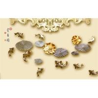 Buy cheap Swimming Fish Imitation Stone Panels Bamboo Fiber Embossed Surface 8mm 12mm from wholesalers