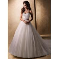 Wholesale 2013 white/ivory A-line Applique Beading wedding dress gown custom size from china suppliers