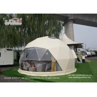 Buy cheap Large Luxury Glamping Tents , 7m Geo Shelter Dome Tent With Roof Lining from wholesalers