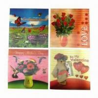 Buy cheap 3D Lenticular Cards in Various Designs and Colors product