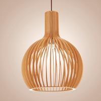 Buy cheap Hand Crafted Natural Wood Pendant Light For Kitchen Island E27 Base With 1500mm Wire from wholesalers