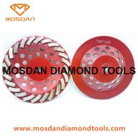 Buy cheap 7 Inch Tuboe Concrete Diamond Grinding Blades Cup Wheel for Hand Grinder from wholesalers