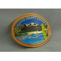Buy cheap California Orange County Council Custom Made Buckles With Gold Plating And Soft Enamel from wholesalers