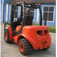 Buy cheap Large Ground Rough Terrain Forklift 2.5 Ton 2 Wd Walk Behind Forklift All Terrain Forklift from wholesalers