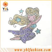 Buy cheap Garment accessory pretty girl hotfix rhinestone motif design creation from wholesalers