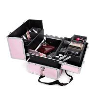 Wholesale Pink Storage Boxes Cosmetic Case , Mirrored Cosmetic Storage Organizer from china suppliers