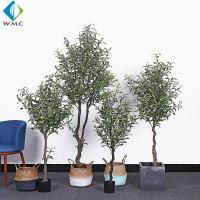 Wholesale Indoor Faux Potted Olive Tree , Artificial Ivy Tree 1.2m - 1.8m Height from china suppliers