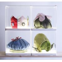 Simple acrylic display holders , clear display holders with white base Manufactures