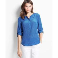 Buy cheap Women's Blouses » Women Roll up Sleeves O Neck Blouse from wholesalers
