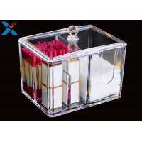 Buy cheap Transparent Square Acrylic Box , Acrylic Cotton Box Lipstick Display Stand product
