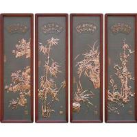Wholesale plum blossom red flower bronze relief home decorative painting for living room from china suppliers