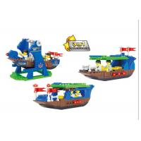 Wholesale Plastic Children's Construction Building Blocks Toy Movable Pirate Ship from china suppliers