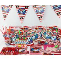 Buy cheap Kids Birthday Party Decoration Set Pirate Theme Party Supplies Baby Birthday Party Pack from wholesalers