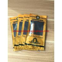 Wholesale European And American Cigar Moisturizing Plastic Zipper Bags With Humidified System from china suppliers