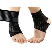 Wholesale Sprain Injury Pain Brace Ankle Support Wrap Gym Sports Basketball Bandage Strap .Elastic material.Customized size. from china suppliers