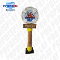Buy cheap Large Pole Visual Personalized Shelf Display Stand Life Post Full Color Printed With Metal Base for Pacifico Draft Beer from wholesalers