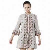 Buy cheap Women's Blouse, Fabric Embroidery Cotton, Yarn Dyed, Front Body and Bottom of Sleeve Embroidery from wholesalers
