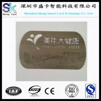 Buy cheap 2015 Customized Non-Standard Stainless Steel Metal Engraved Card from wholesalers
