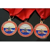 Buy cheap Rowing Gifts Competition Medals And Medallions Sports Day Medals With Red Ribbon from wholesalers
