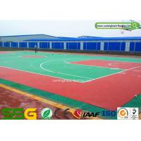 Outdoor or Indoor Basketball Silicon PU Court Sports Flooring Stable Surfacing Materials Manufactures