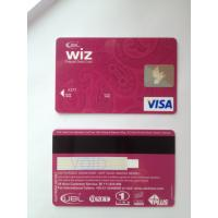 Fashion design wiz prepaid debit visa smart card with magstripe Manufactures