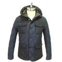 Black Outdoor Fashion Mens Padded Jacket Anti Pilling / Windproof Down Jacket Manufactures