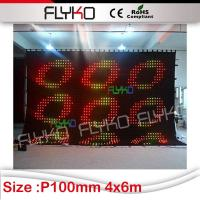 Buy cheap cheap goods from china New inventions soft LED video curtain from wholesalers