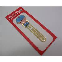 Buy cheap Customize Metal Bookmarks Copper Etched Book Mark Office Supply Funny Gift from wholesalers