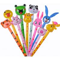 Wholesale Cartoon Animal Inflatable Long Hammer No wounding weapon Stick Children Toys , cheering animal stick s,6P Pthalates free from china suppliers