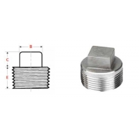 Buy cheap Forged Connection 1/2 ASME B16.11 Square Head Plug from wholesalers