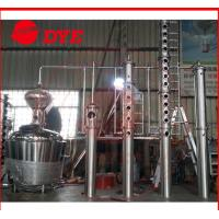 200L - 5000L Red Copper Alcohol Distiller , Whiskey Distilling Equipment Manufactures